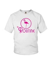 The Routine - Classic Pink Flamingo Collection Youth T-Shirt thumbnail