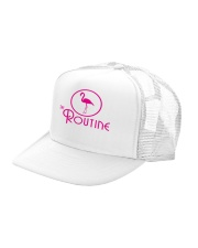 The Routine - Classic Pink Flamingo Collection Trucker Hat left-angle
