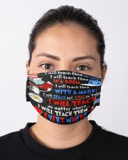 In A Room With A Mask - I Will Teach Everywhere Cloth face mask aos-face-mask-lifestyle-01