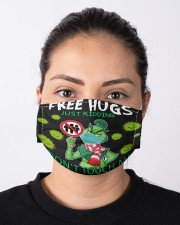 FreeHugs - Just Kidding Don't Touch Me Cloth face mask aos-face-mask-lifestyle-01