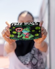 FreeHugs - Just Kidding Don't Touch Me Cloth face mask aos-face-mask-lifestyle-07