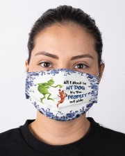 All I Need Is My Dog - It's Too Peopley Outside Cloth face mask aos-face-mask-lifestyle-01