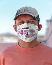 Cough One More Damn Time - Purple Cloth face mask aos-face-mask-lifestyle-06