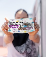 Cough One More Damn Time - Purple Cloth face mask aos-face-mask-lifestyle-07