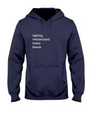 Lightly Melanated Hella Black Hooded Sweatshirt thumbnail