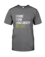 I Came I Saw I Had Anxity So I Left Premium Fit Mens Tee tile