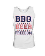 BBQ BEER FREEDOM Unisex Tank tile