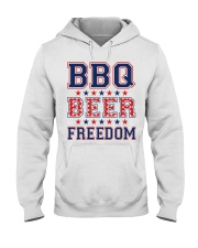BBQ BEER FREEDOM Hooded Sweatshirt thumbnail