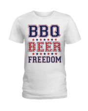 BBQ BEER FREEDOM Ladies T-Shirt thumbnail