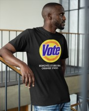 Vote Removes Stubborn Orange Stains Classic T-Shirt apparel-classic-tshirt-lifestyle-front-36