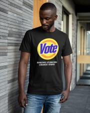 Vote Removes Stubborn Orange Stains Classic T-Shirt apparel-classic-tshirt-lifestyle-front-41-b