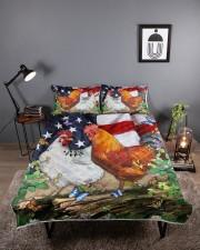 Chicken Flag American Quilt Bed Set Queen Quilt Bed Set aos-queen-quilt-bed-set-lifestyle-front-01