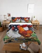 Chicken Flag American Quilt Bed Set Queen Quilt Bed Set aos-queen-quilt-bed-set-lifestyle-front-06