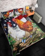Chicken Flag American Quilt Bed Set Queen Quilt Bed Set aos-queen-quilt-bed-set-lifestyle-front-08