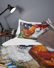 Chicken Flag American Quilt Bed Set Queen Quilt Bed Set aos-queen-quilt-bed-set-lifestyle-front-09