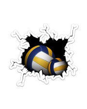 Volleyball Crack Sticker - Single (Vertical) front