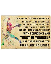 Softball - There Are No Limits 17x11 Poster front