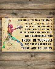 Softball - There Are No Limits 17x11 Poster poster-landscape-17x11-lifestyle-14
