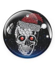 Skull Christmas Circle ornament - single (porcelain) front