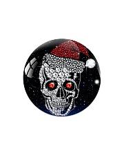 Skull Christmas Circle Magnet thumbnail