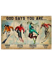 Skiing God Says You Are 17x11 Poster front