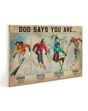 Skiing God Says You Are 30x20 Gallery Wrapped Canvas Prints thumbnail