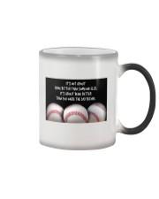 Baseball Being Better Color Changing Mug thumbnail