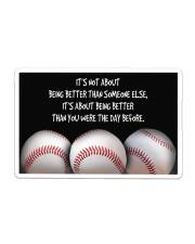 Baseball Being Better Sticker - Single (Horizontal) thumbnail