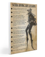 Scuba Diving Life Lessons Gallery Wrapped Canvas Prints tile