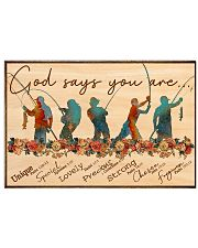Fishing - God Says You Are 17x11 Poster front