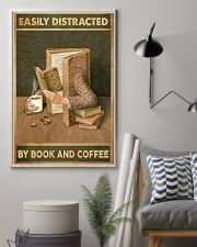 Easily Distracted By Book And Coffee 11x17 Poster lifestyle-poster-1