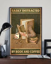 Easily Distracted By Book And Coffee 11x17 Poster lifestyle-poster-2