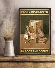 Easily Distracted By Book And Coffee 11x17 Poster lifestyle-poster-3