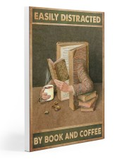 Easily Distracted By Book And Coffee Gallery Wrapped Canvas Prints tile