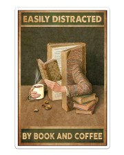 Easily Distracted By Book And Coffee Sticker tile