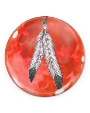 Native - Blood Moon Round Ornament Circle ornament - single (porcelain) front