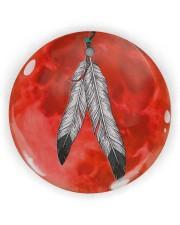 Native - Blood Moon Round Ornament Circle ornament - single (wood) thumbnail