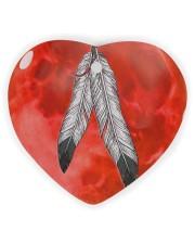 Native - Blood Moon Round Ornament Heart ornament - single (wood) thumbnail