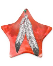 Native - Blood Moon Round Ornament Star ornament - single (porcelain) thumbnail