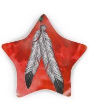 Native - Blood Moon Round Ornament Star ornament - single (wood) thumbnail