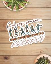 Basketball - God Says You Are Sticker - Single (Horizontal) aos-sticker-single-horizontal-lifestyle-front-07