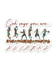 Basketball - God Says You Are Sticker - Single (Horizontal) front
