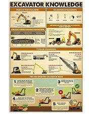 Excavator Knowlege  11x17 Poster front