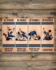 Jiu Jitsu - Be Strong 17x11 Poster poster-landscape-17x11-lifestyle-14