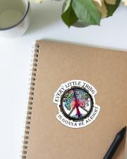 Hippie - Every Little Thing  Sticker - Single (Vertical) aos-sticker-single-vertical-lifestyle-front-16