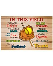 Softball - We Are A Team 17x11 Poster front
