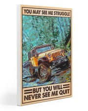 J Never See Me Quit Gallery Wrapped Canvas Prints tile