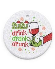 Gr 2020 Drink Drank Drunk Circle ornament - single (porcelain) front