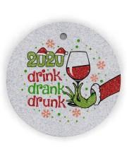 Gr 2020 Drink Drank Drunk Circle Ornament (Wood tile