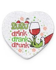 Gr 2020 Drink Drank Drunk Heart Ornament (Porcelain) tile